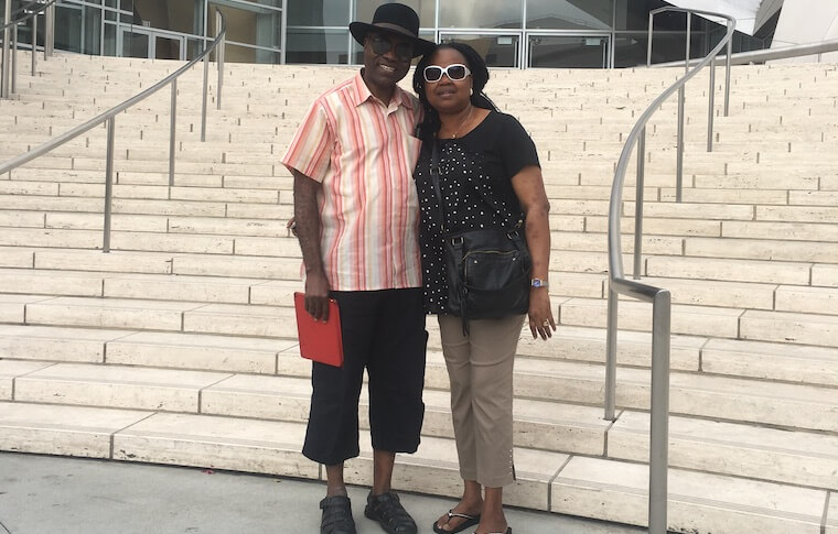 Couple at Concert Hall Los Angeles