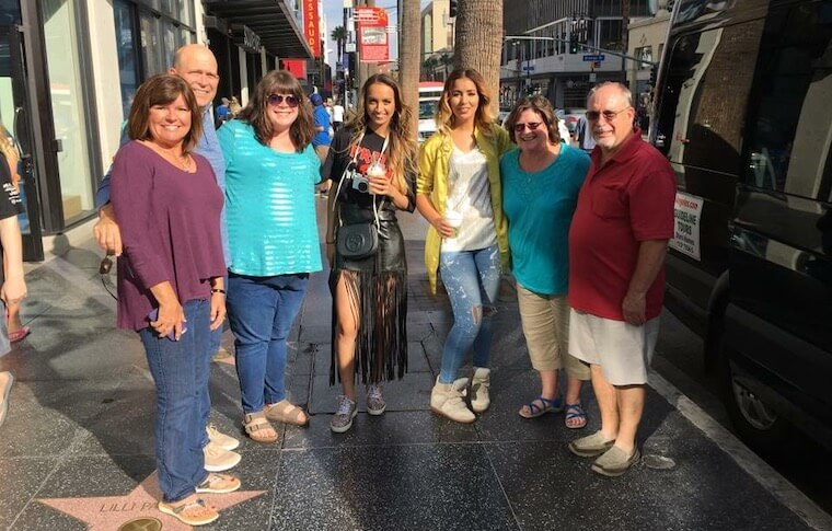Family on the Hollywood Walk of Fame