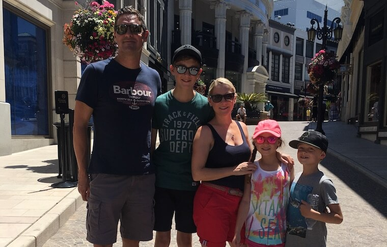 Family of Five at Rodeo Drive