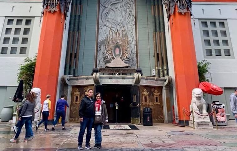 Posing in Front of Chinese Theater