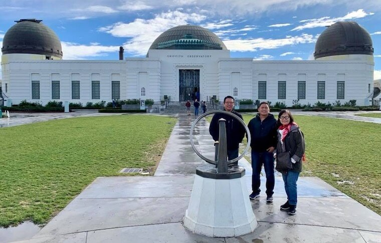Family of Three at Griffith Observatory